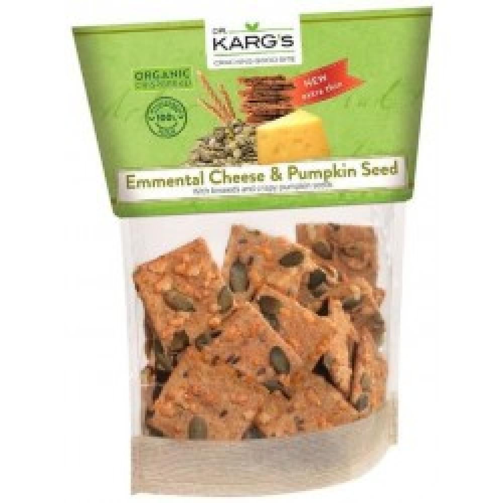 Dr Kargs Organic Emmental Cheese and Pumpkin Seed Crispbread 110g