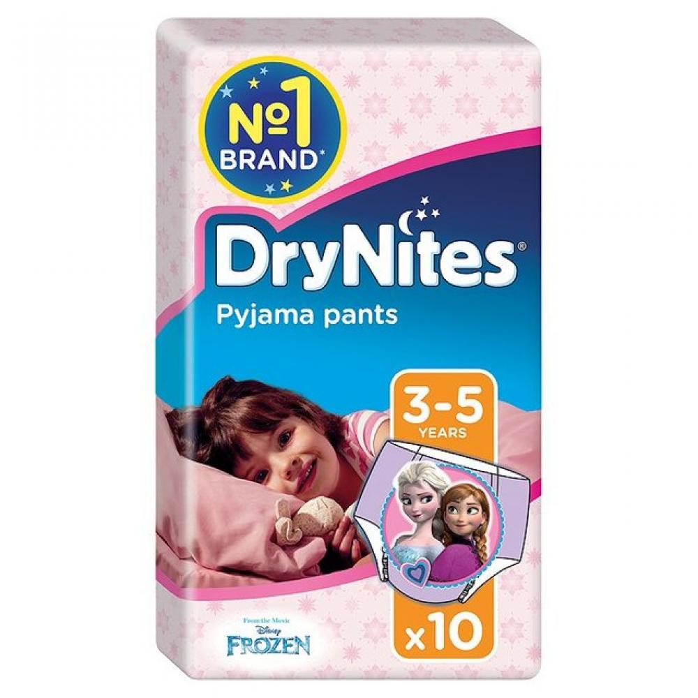 DryNites Girls Pants 3 to 5 Years 10 Pack
