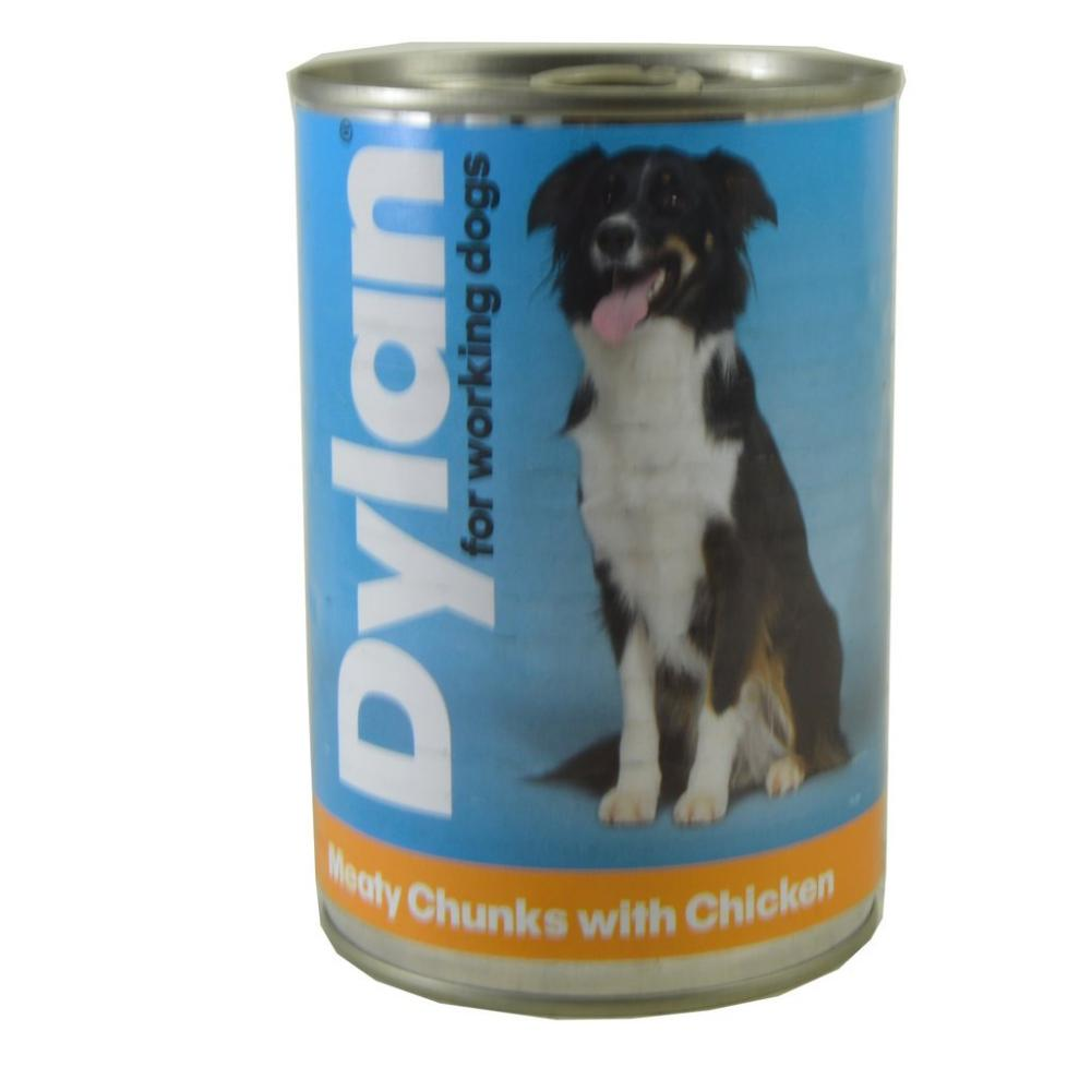 Dylan For Working Dogs Meaty Chunks With Chicken 400g