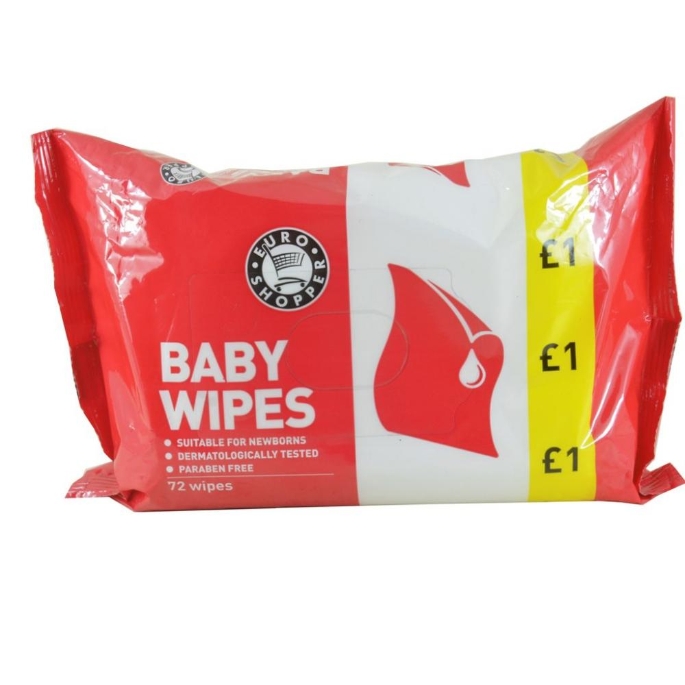 Euro Shopper Euro Shopper Baby Wipes 72 Wipes
