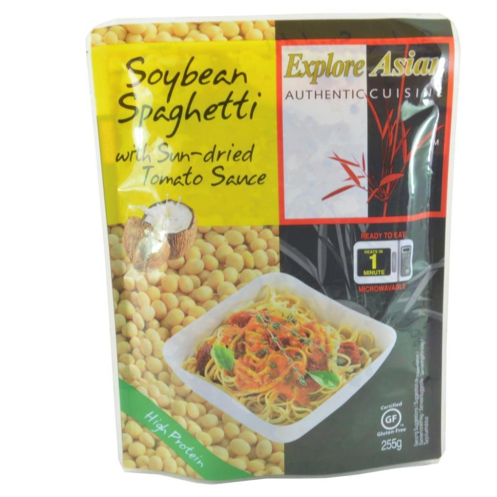 Explore Asian Soybean Spaghetti With Sun Dried Tomato Sauce 255g