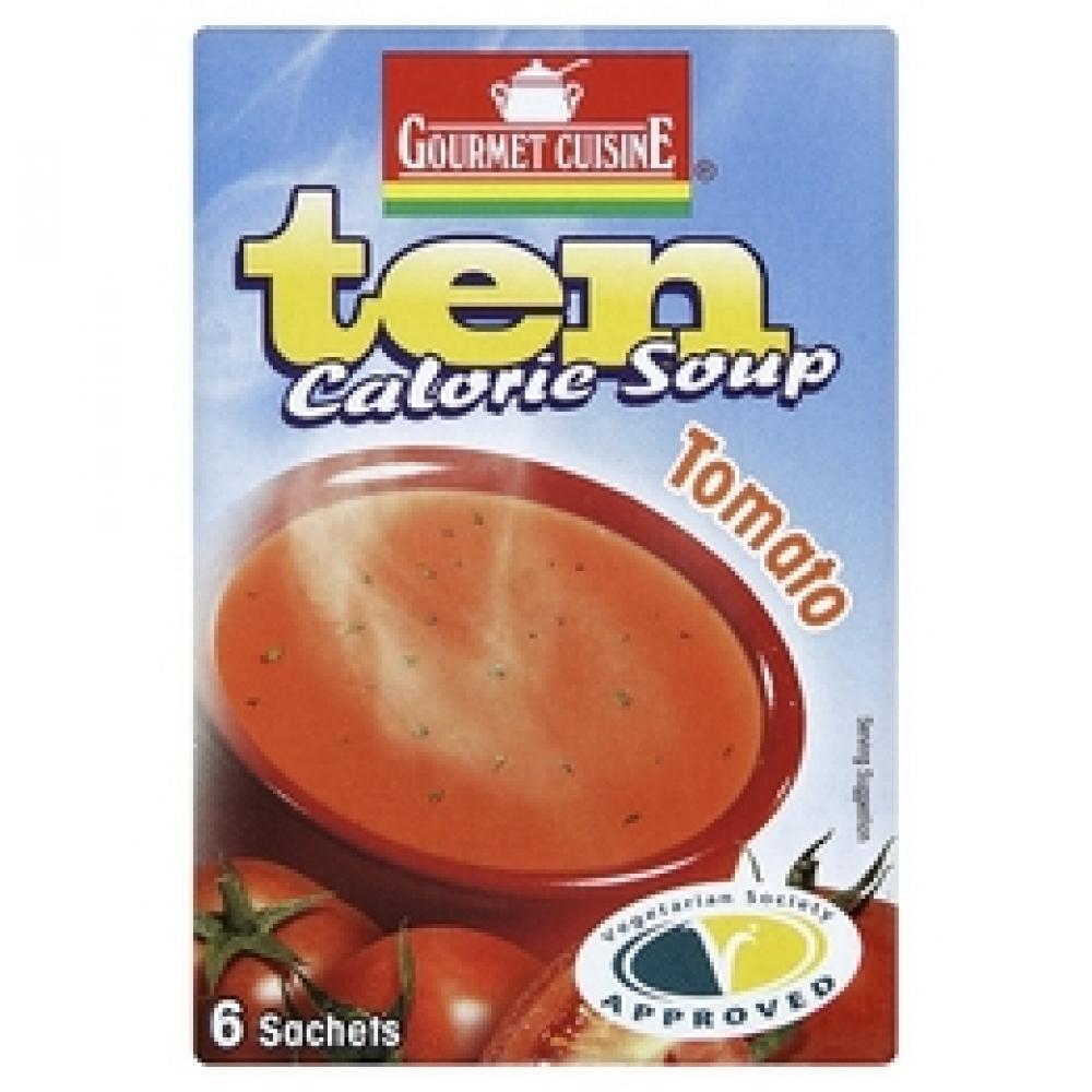 gourmet cuisine ten calorie tomato soup 6 sachets 33g