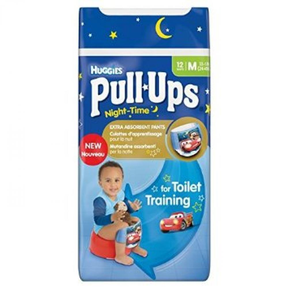 Huggies Pull Ups Night Time For Boys 12 Pants Medium