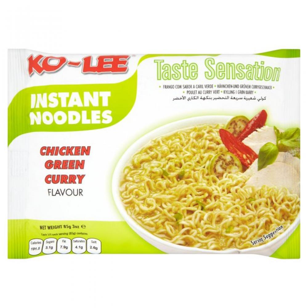 Ko Lee Instant Noodles Chicken Green Curry Flavour 85g