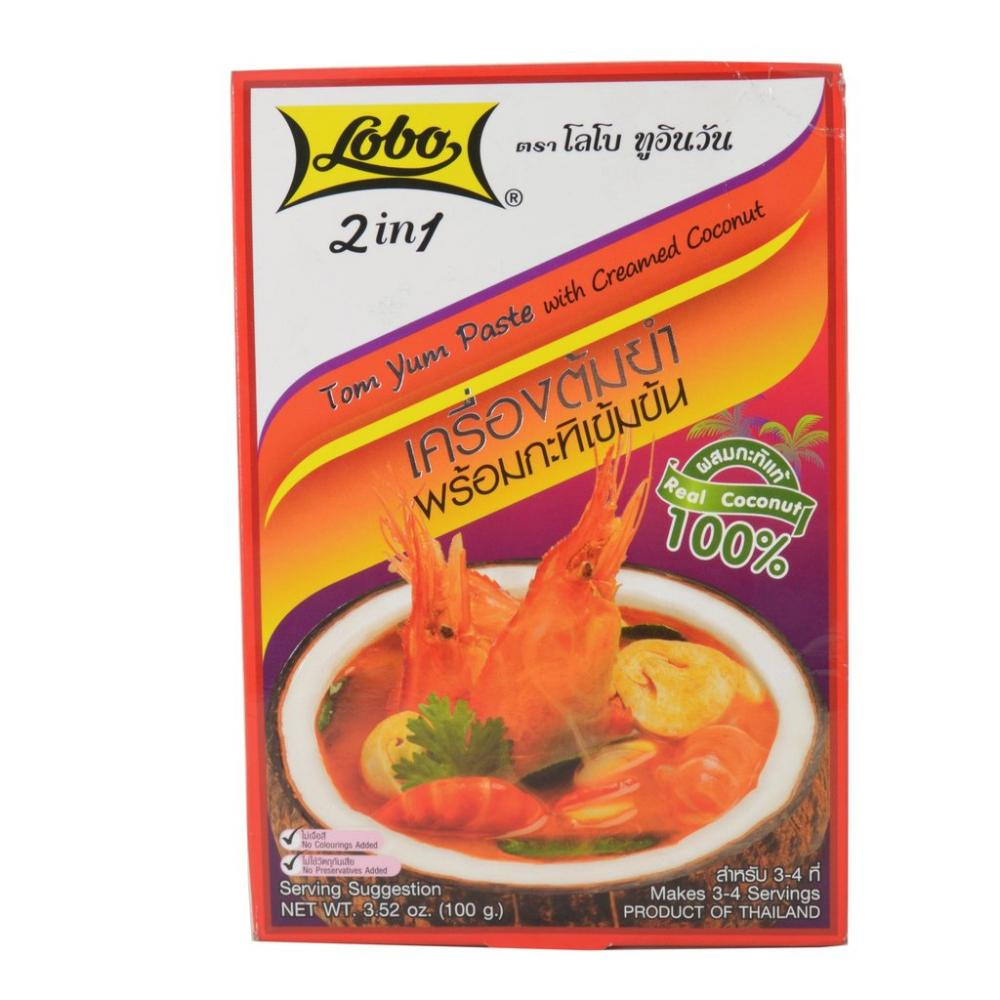Lobo Tom Yum Paste With Creamed Coconut 100g