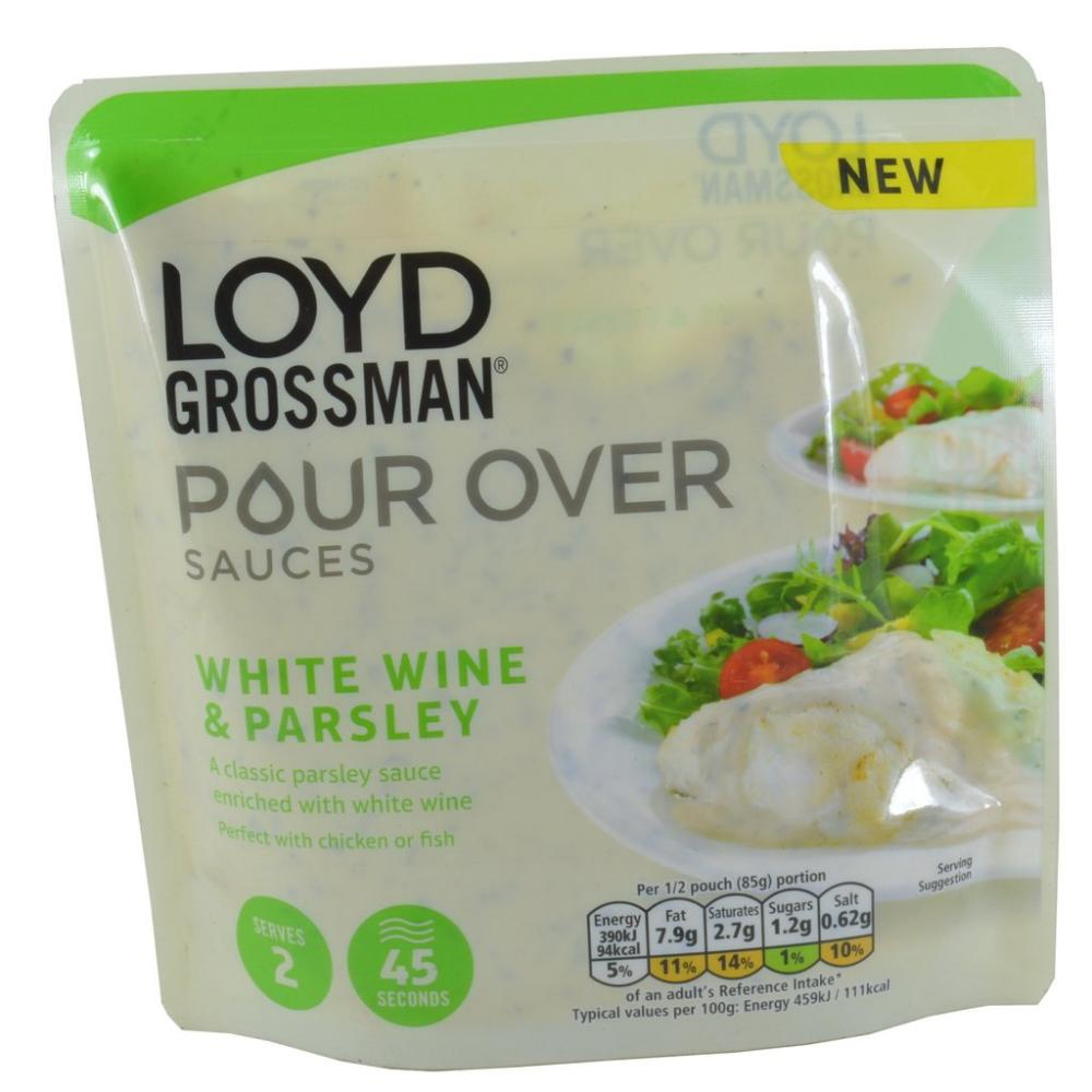 Loyd Grossman Pour Over Sauce White Wine and Parsley 170g