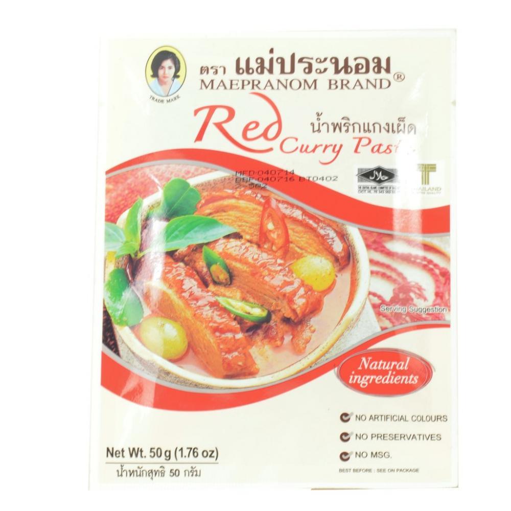 Maepranom Brand Red Curry Paste 50g