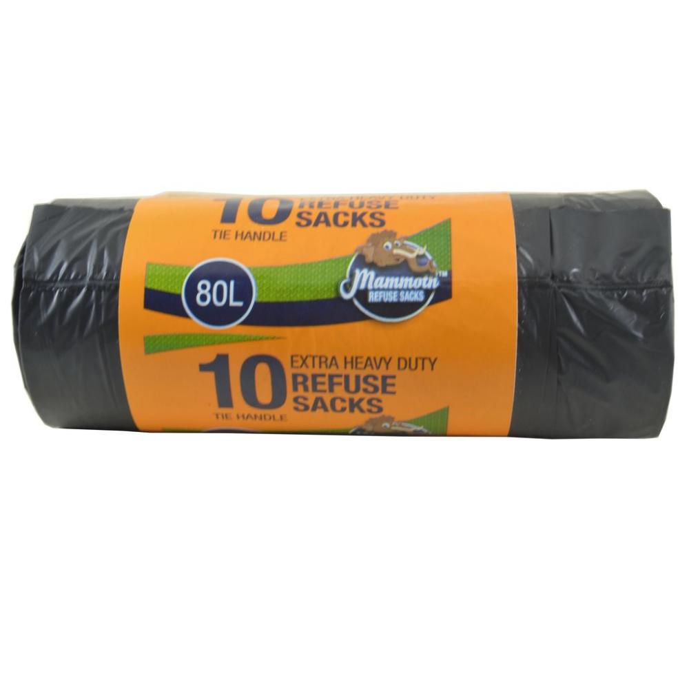 Mammoth Refuse Sacks Extra Heavy Duty 10 Per Roll