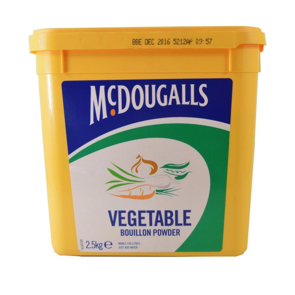 FURTHER REDUCTION  Mcdougalls Vegetable Bouillon Powder 2500g
