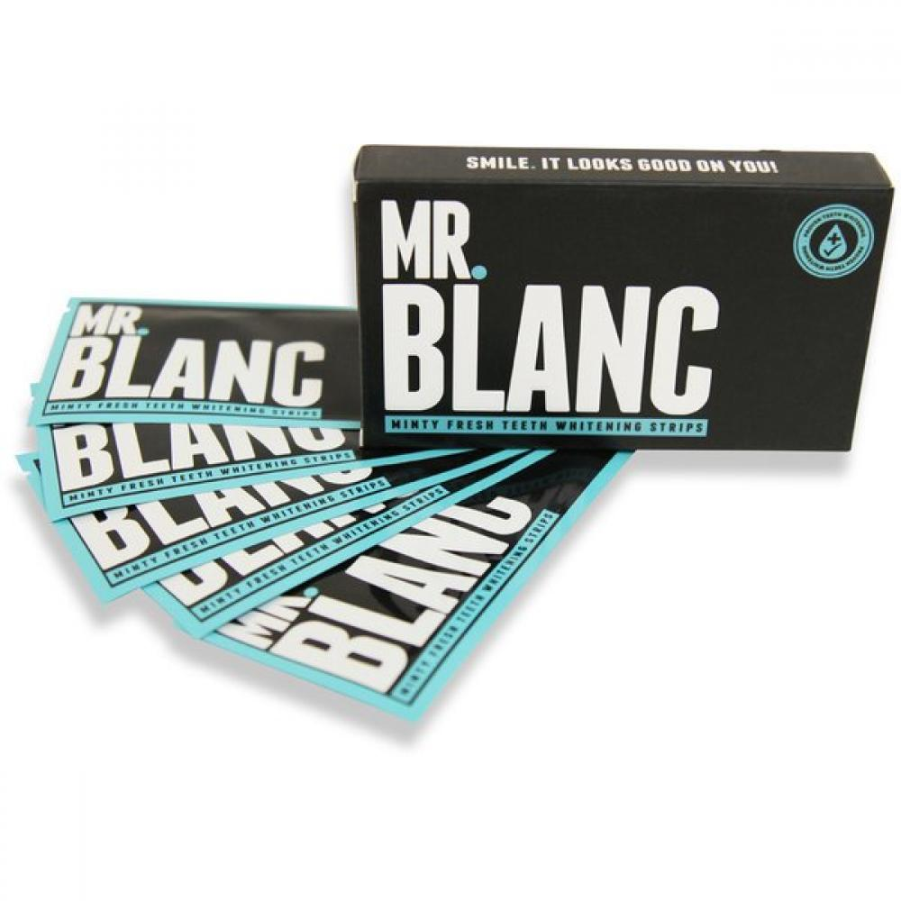 JANUARY SALE  Mr Blanc Minty Fresh Teeth Whitening Strips Pack of 2 Weeks Supply