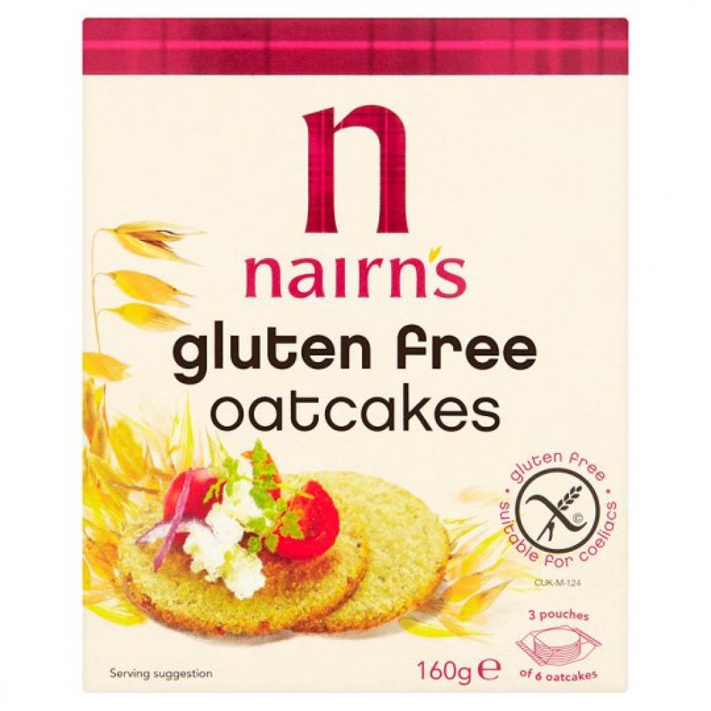 FURTHER REDUCTION  Nairns Gluten Free Oatcakes 160g