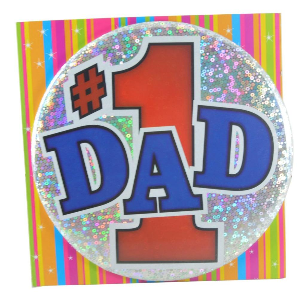 Large Badge Number 1 Dad