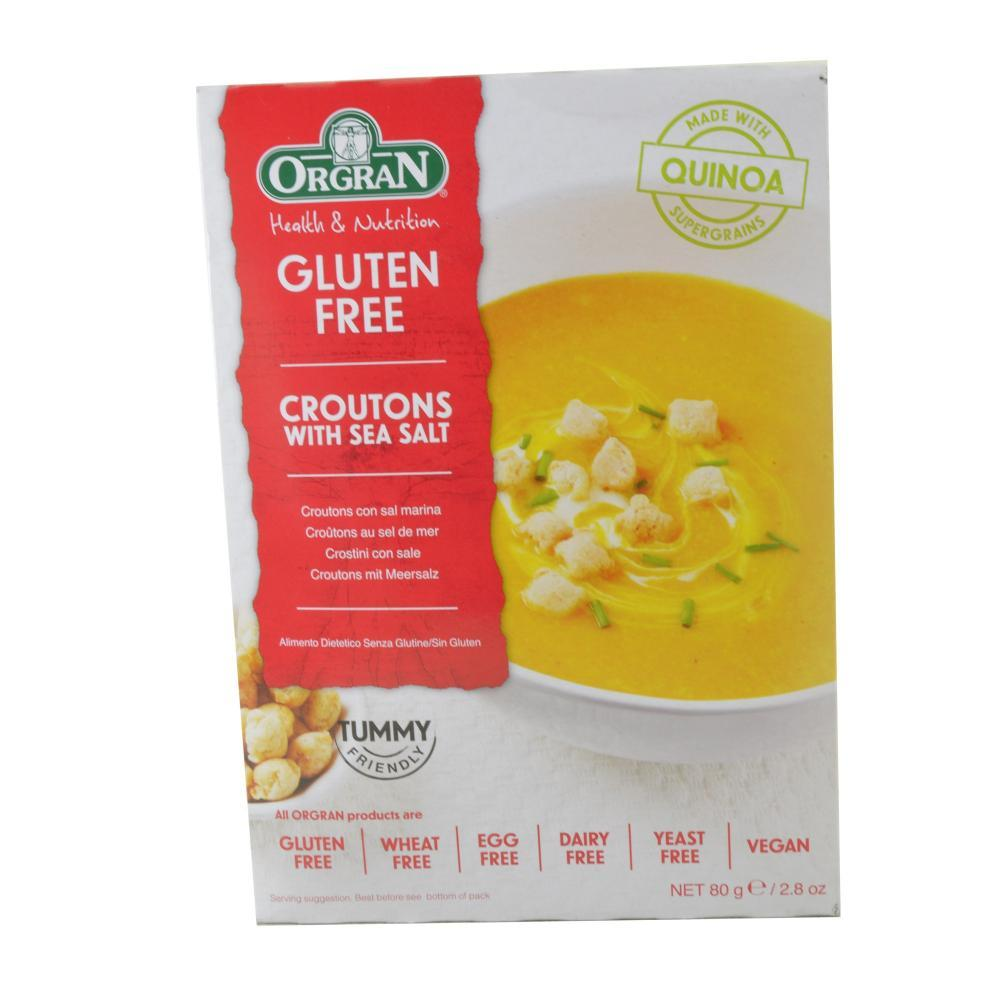 Orgran Gluten Free Croutons With Sea Salt 80g | Approved Food