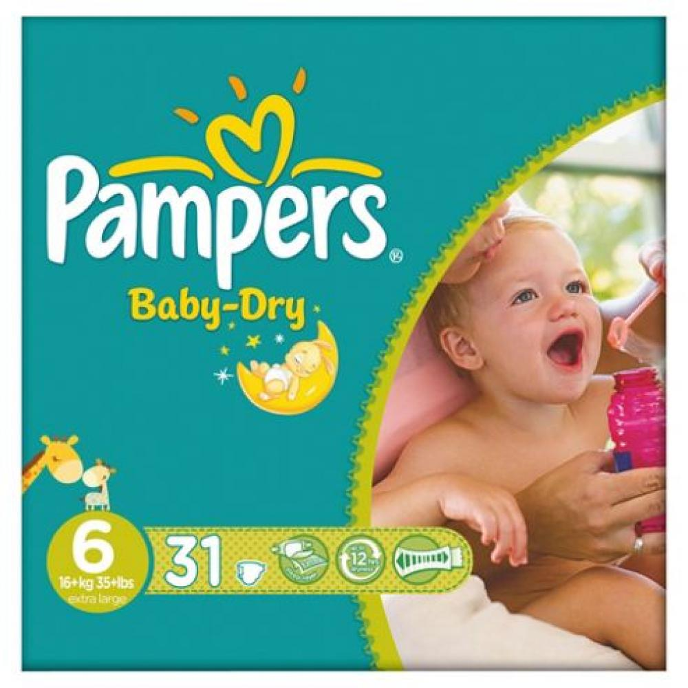 Pampers Baby Dry 31 Nappies Size 6