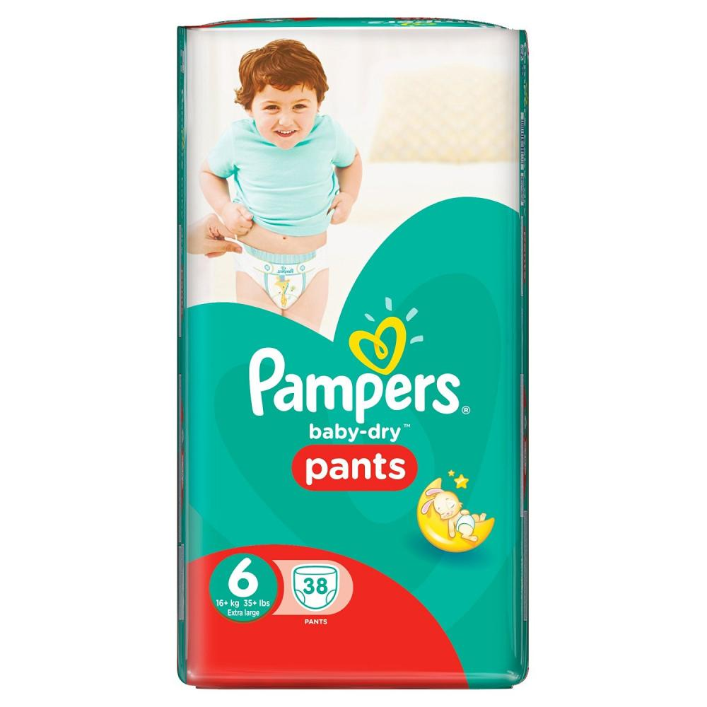 Pampers Baby Dry Pants Size 6 Extra Large 38 Pants