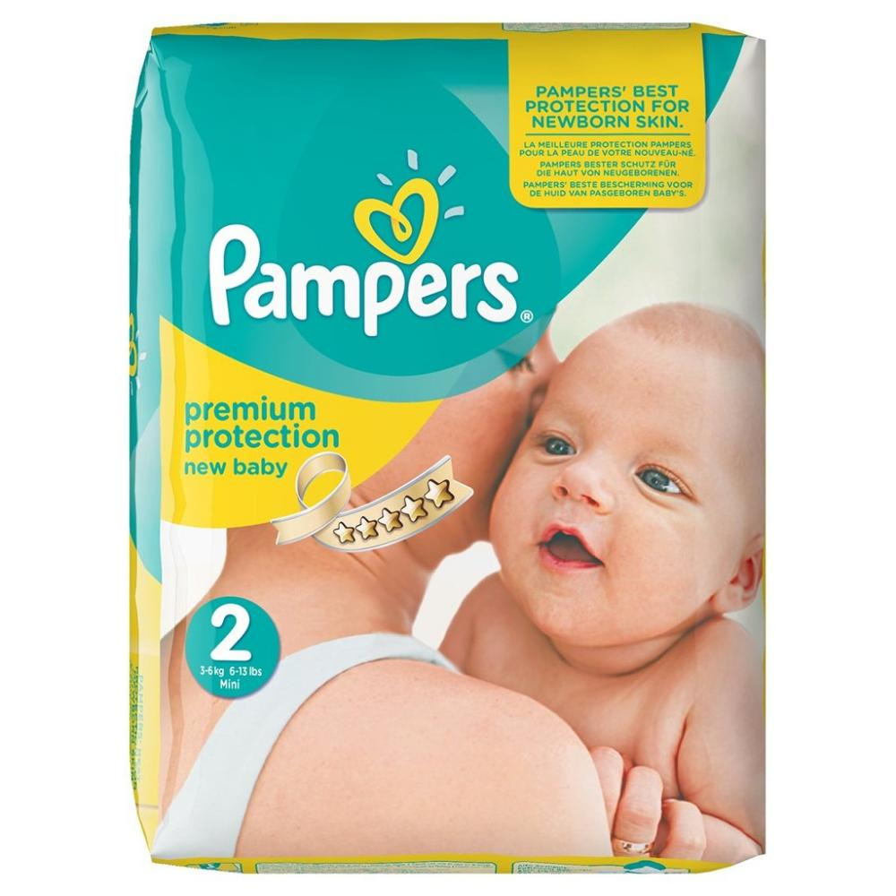 Pampers Premium Protection Nappies New Baby Size 2 40 Pack