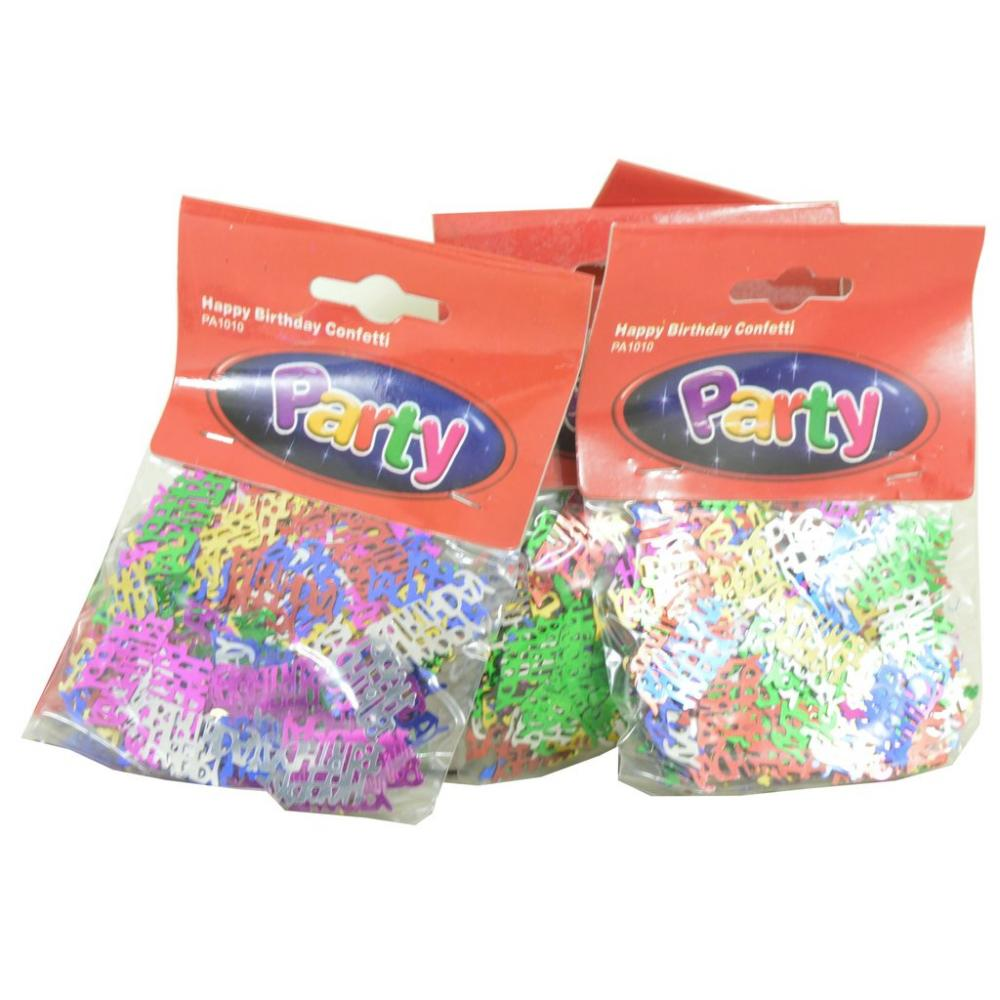 6 PACKS  Party Happy Birthday Confetti 6 Packs