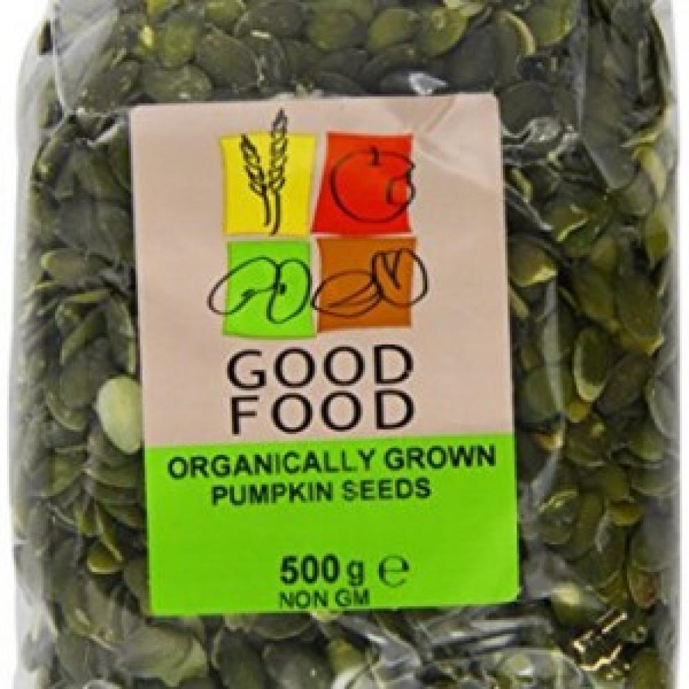 FURTHER REDUCTION  Good Food Pre Packed Organic Pumpkin Seeds 500g