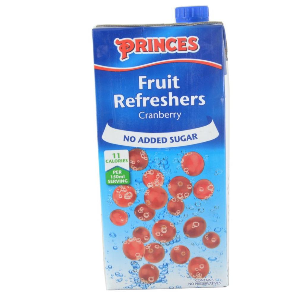 Princes Fruit Refreshers Cranberry Flavour 1 Litre