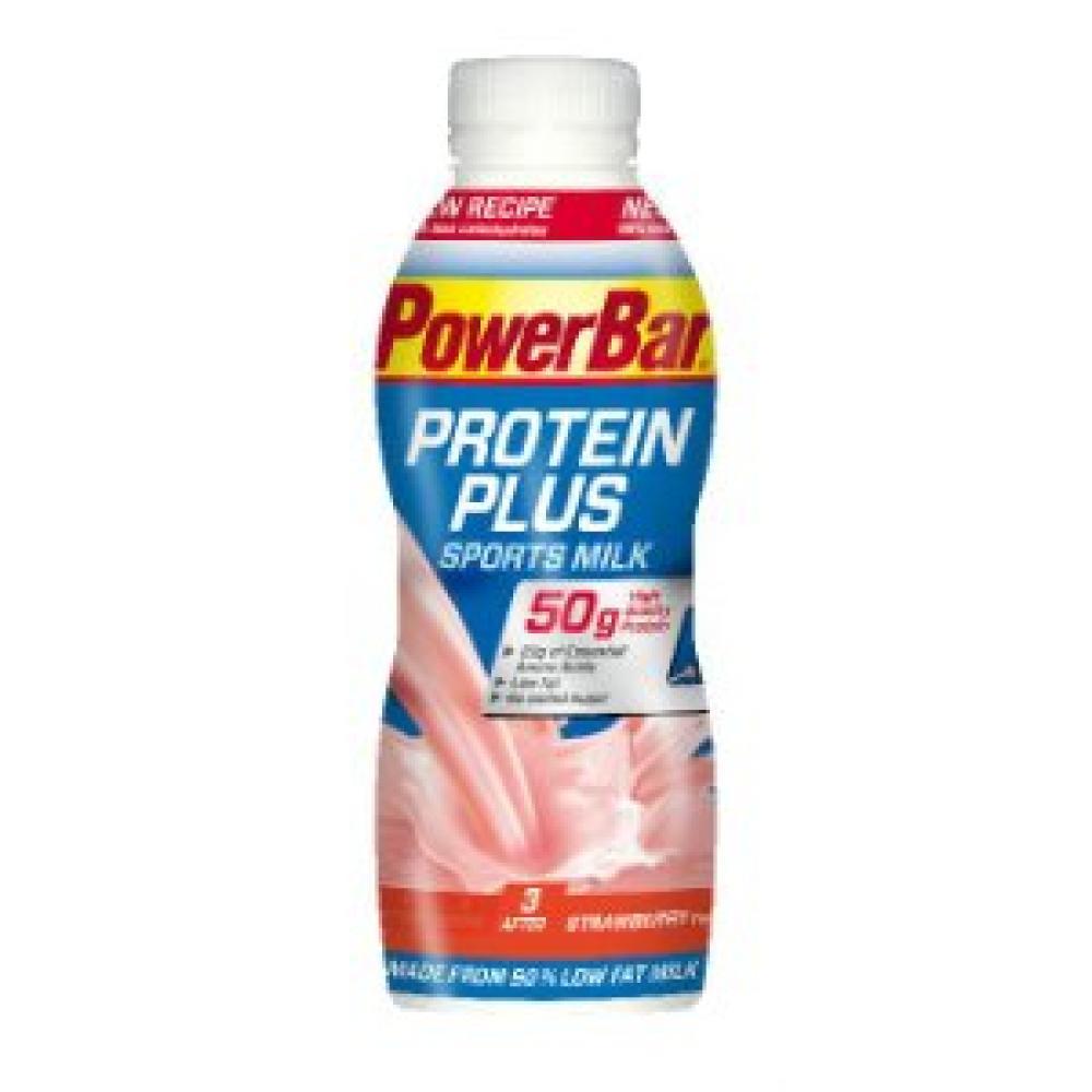 Power Bar Protein Plus Sports Milk Strawberry Flavour 500ml