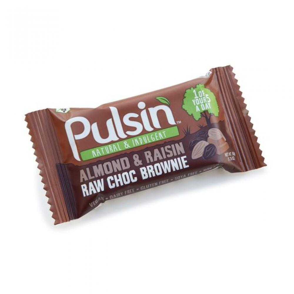 Pulsin Raw Choc Brownie Almond and Raisin 50g