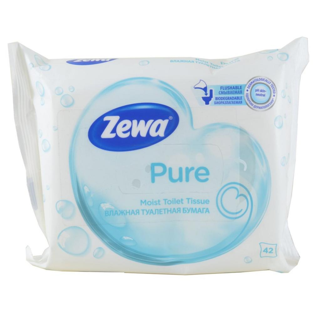 Zewa Pure Moist Toilet Tissue 42 Wipes