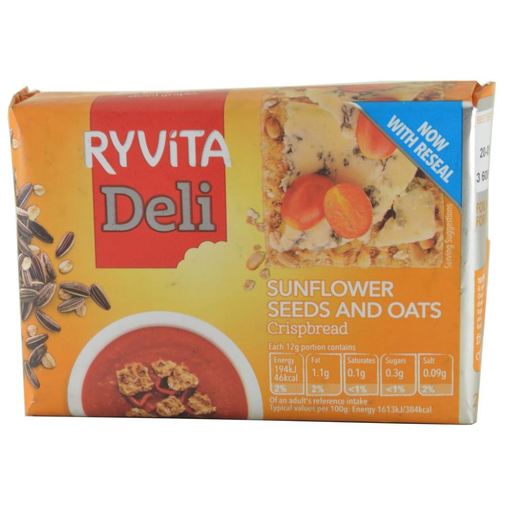 FURTHER REDUCTION  Ryvita Deli Sunflower Seeds and Oats Crispbread 200g