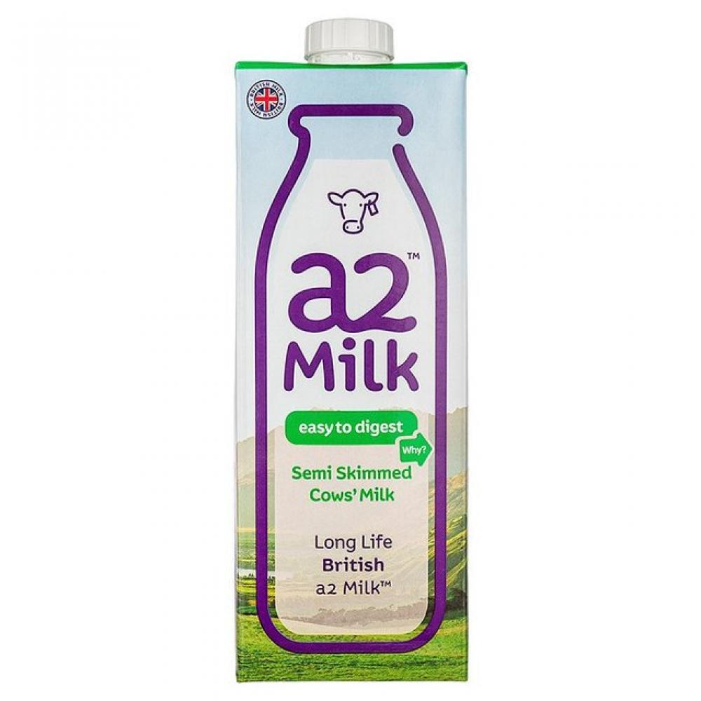A2 Milk Semi Skimmed 1 Litre Long Life