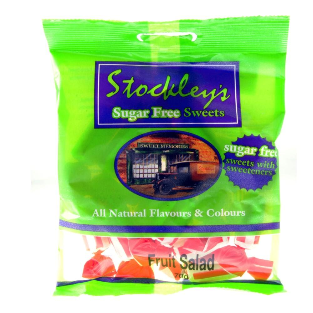 Stockleys Fruit Salad Sweets Sugar Free 70g