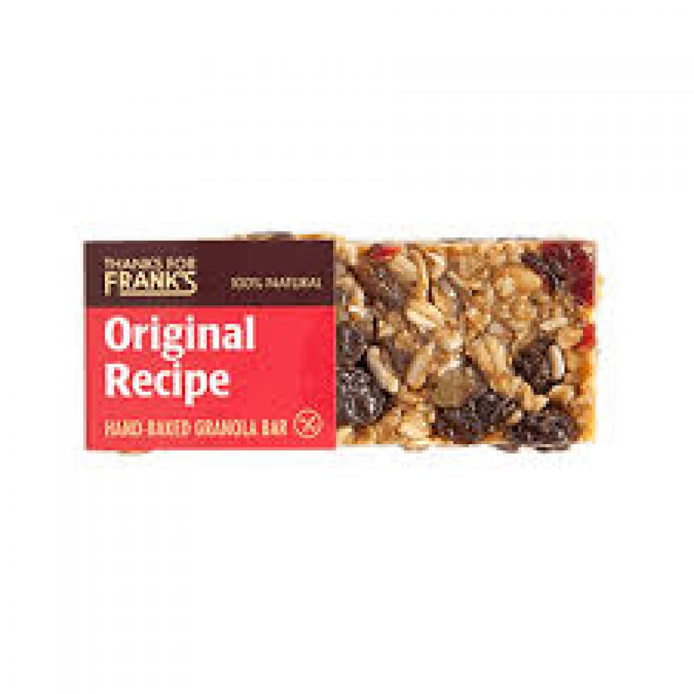 Thanks for Franks Gluten Free Granola Flapjack Bar Original 55g