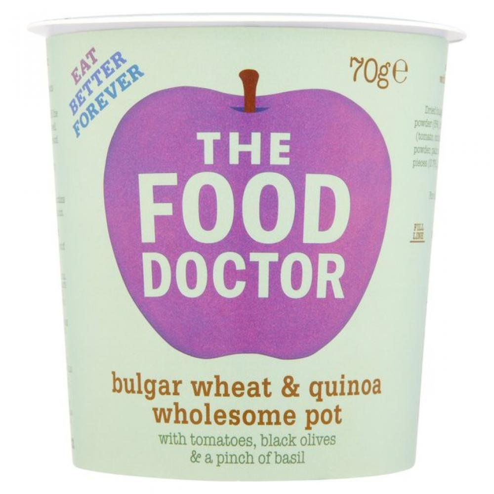 The Food Doctor Bulgar Wheat and Quinoa Wholesom Pot 70g