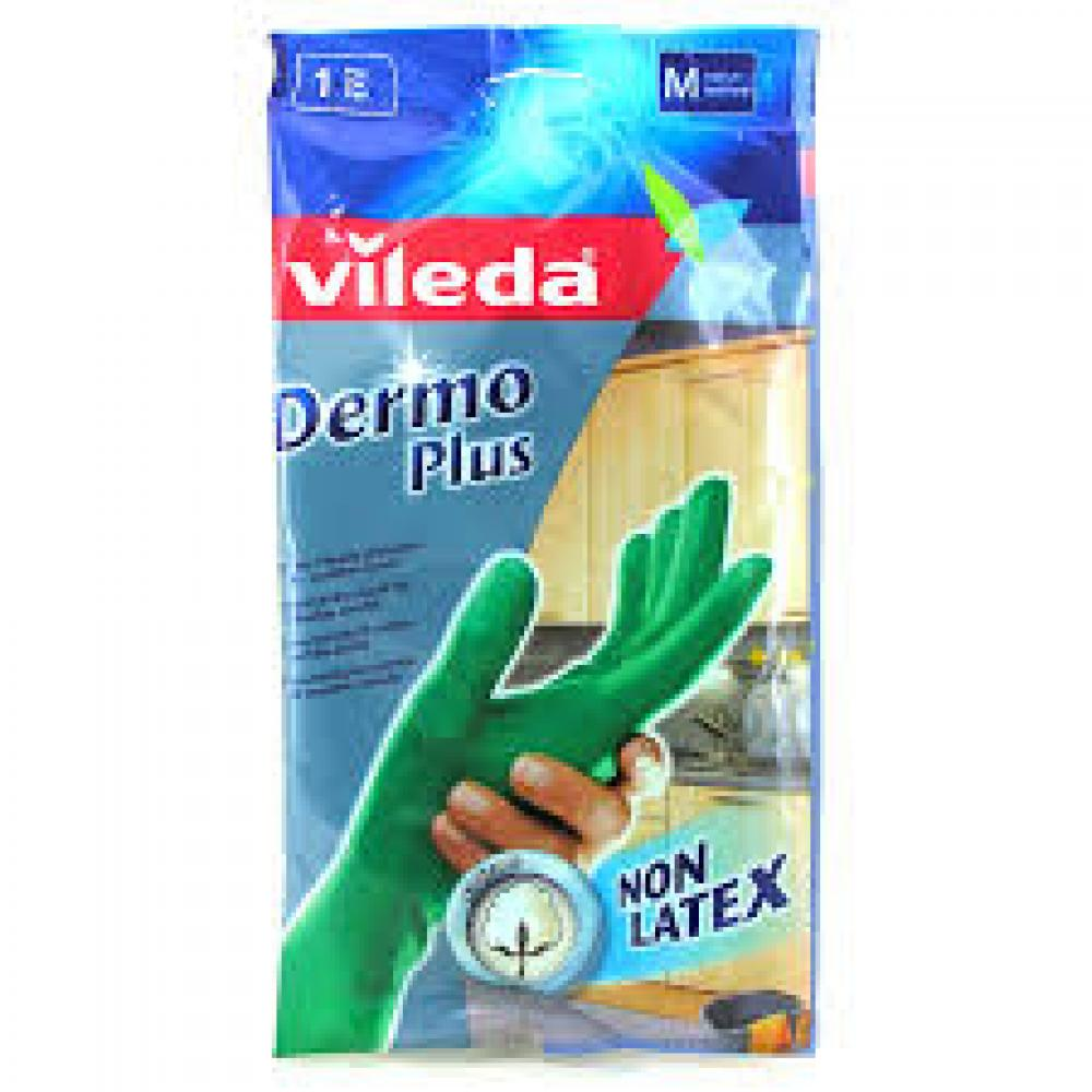 Vileda Dermo Plus Rubber Gloves Large 1 Pair