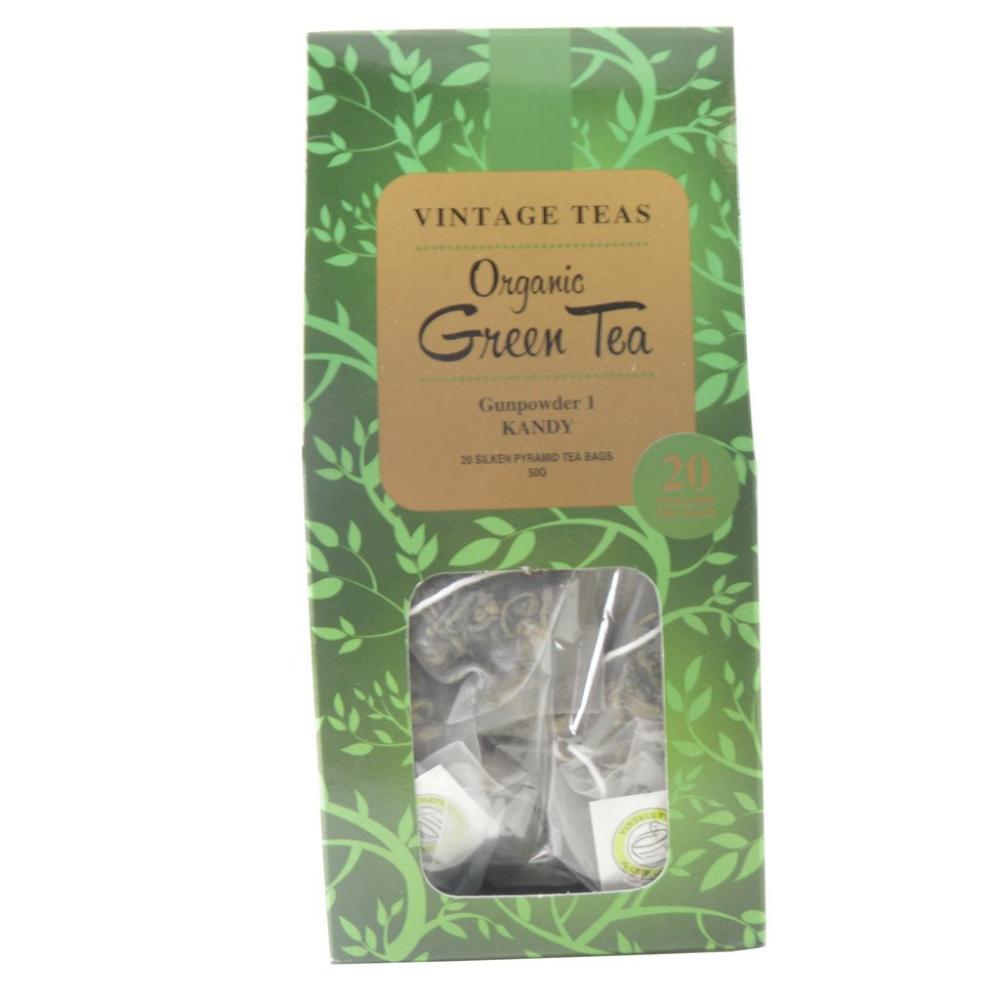 Vintage Teas Organic Green Tea 20 Pyramid Tea Bags