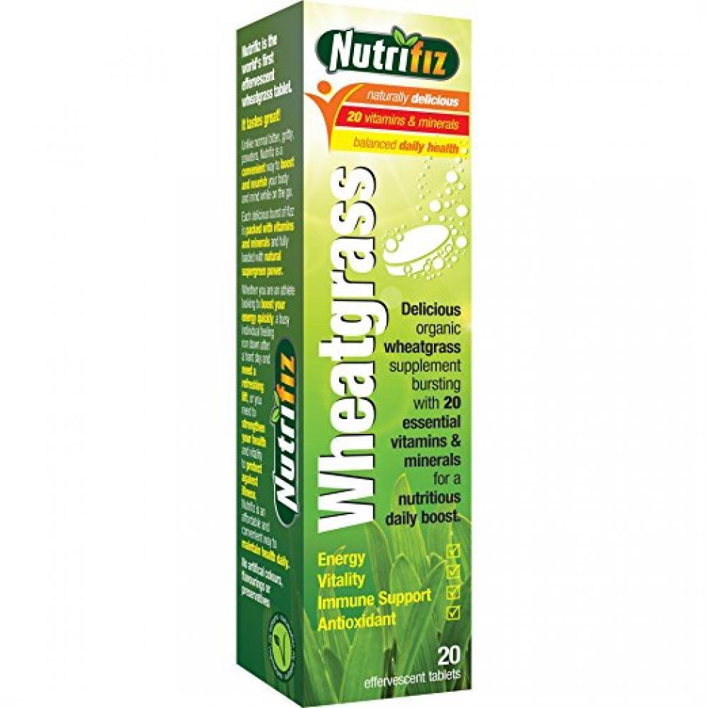 Nutrifiz Wheatgrass 20 Tablets