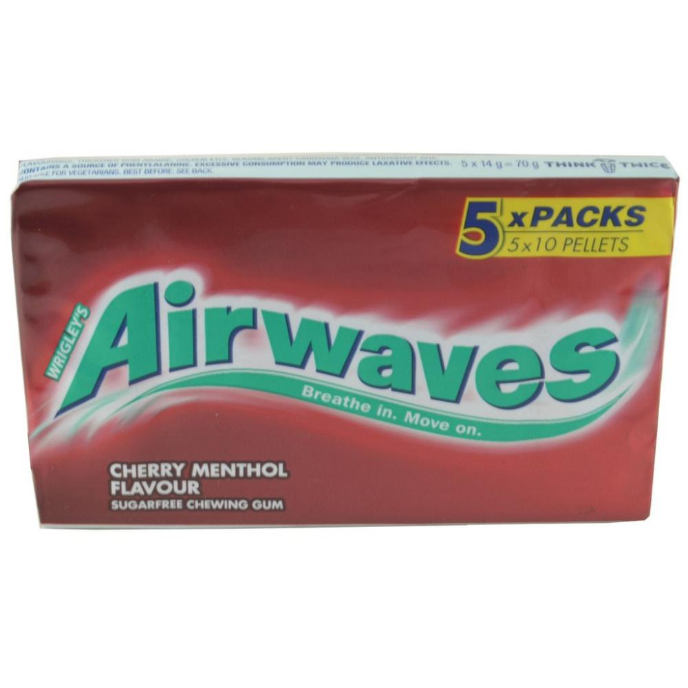 Wrigleys Airwaves Cherry Menthol Flavour 5 x 10 Pellets