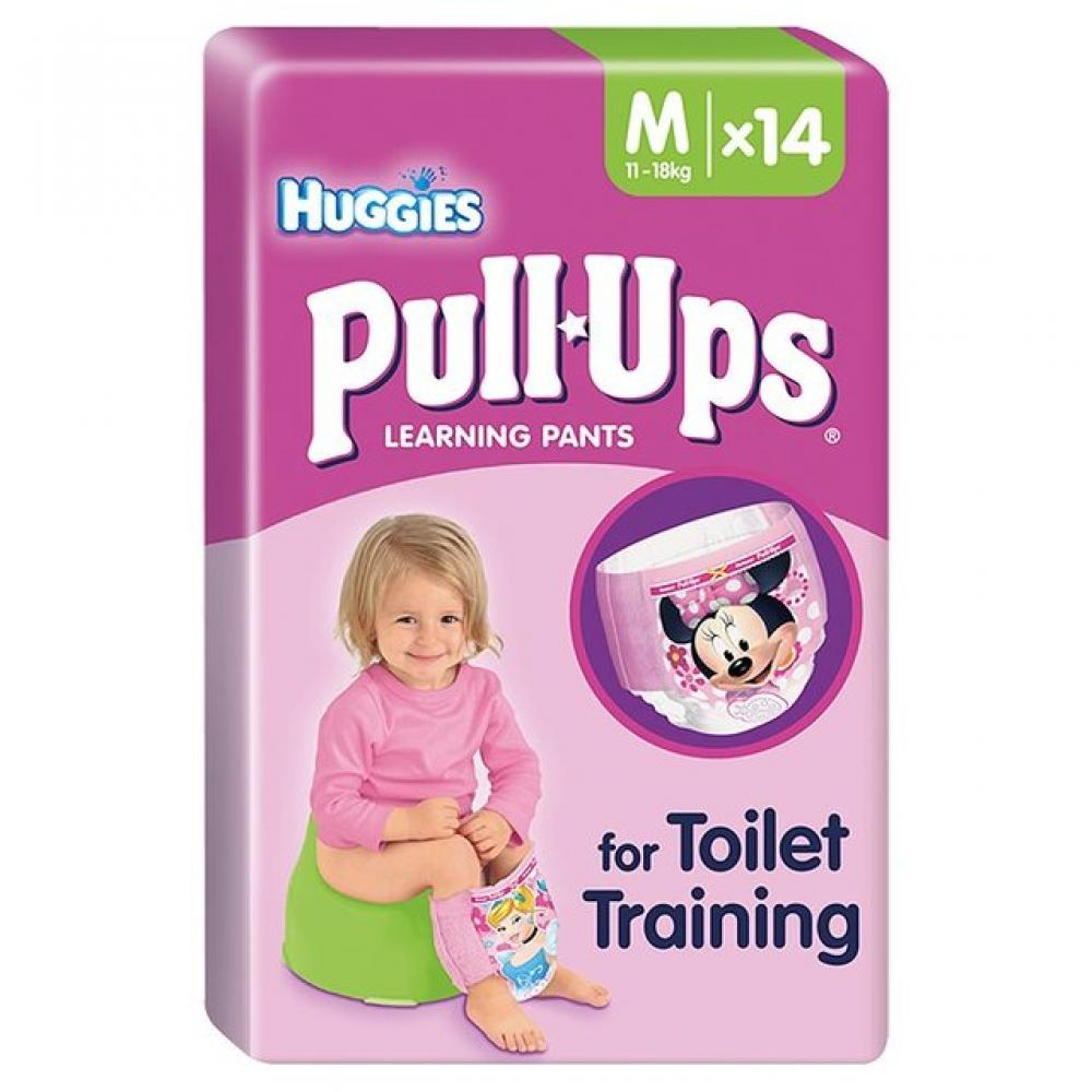 Huggies Pull Ups Learning Pants For Girls 14 Pack Medium