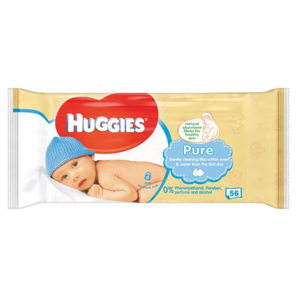 Huggies Pure Baby Wipes 56 Wipes