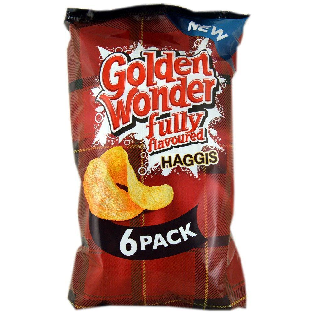 Golden Wonder Fully Flavoured Haggis 25g x 6
