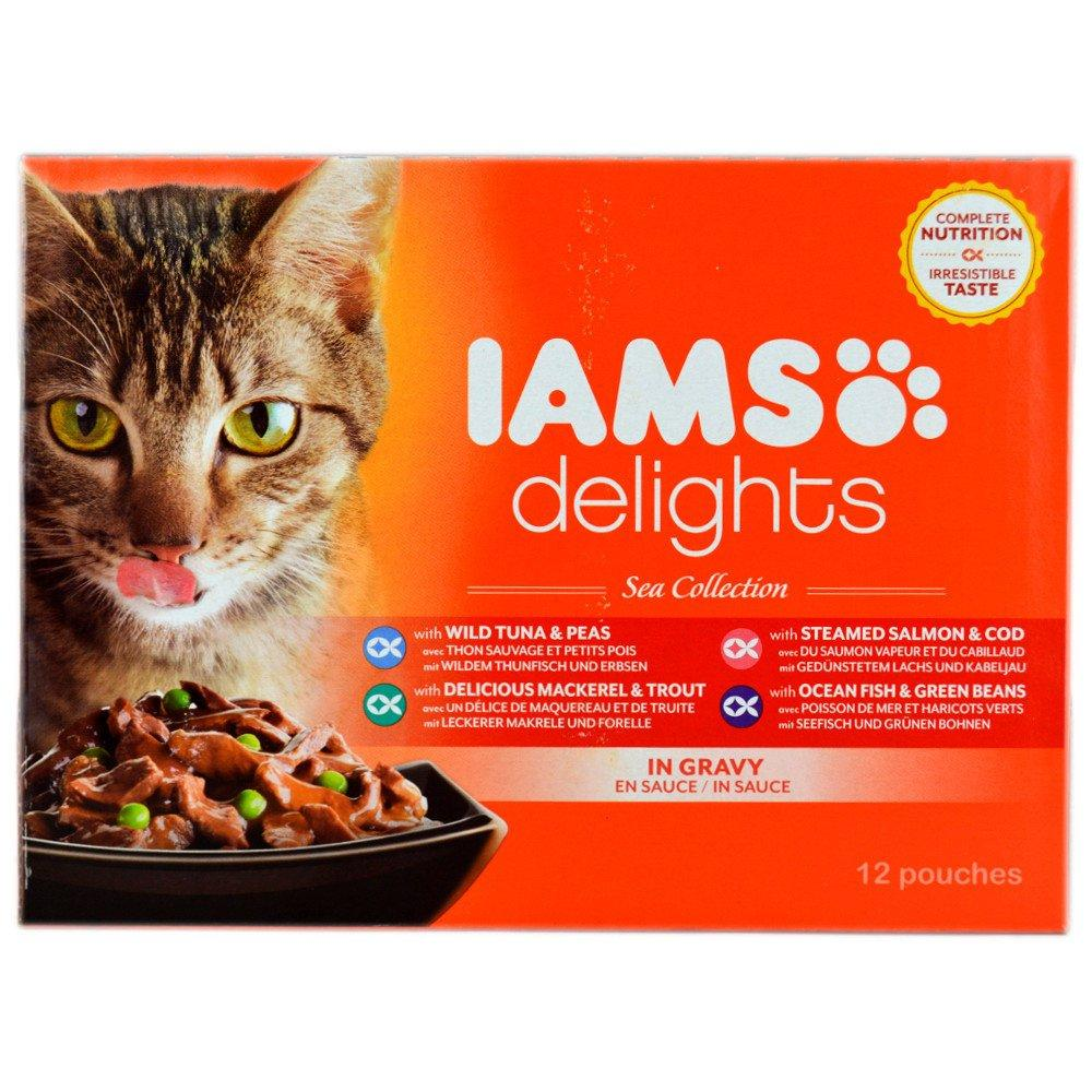 CASE PRICE  Iams Delights Sea Collection 85g x 12