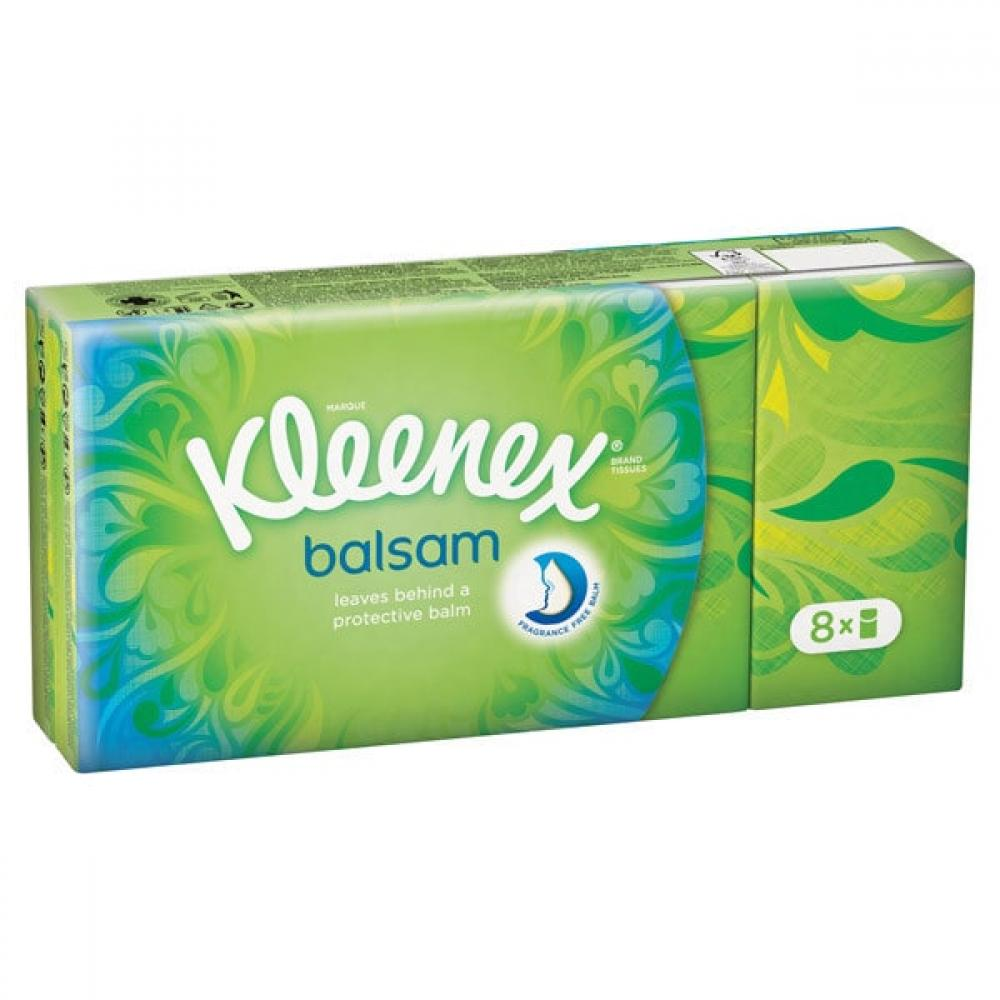 Kleenex Balsam Pocket Pack Tissues 8pack