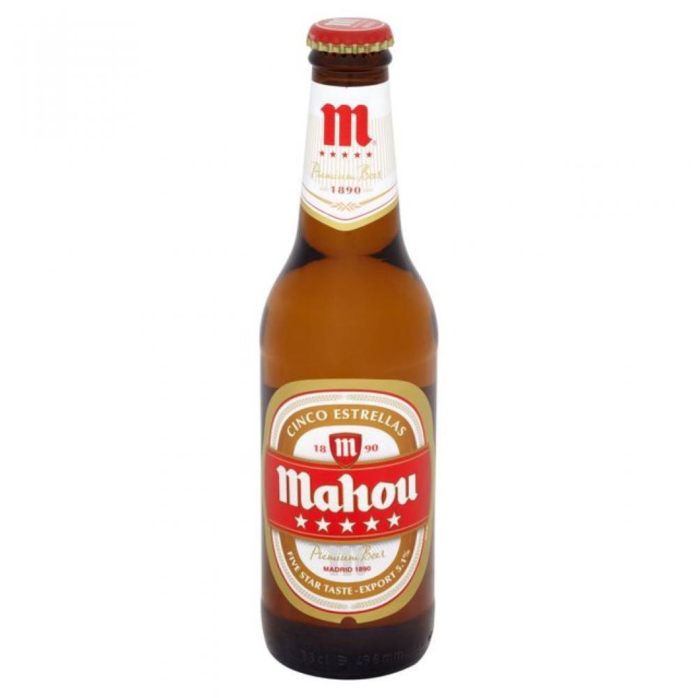 Mahou Cinco Estrellas Premium Beer 330ml 330ml