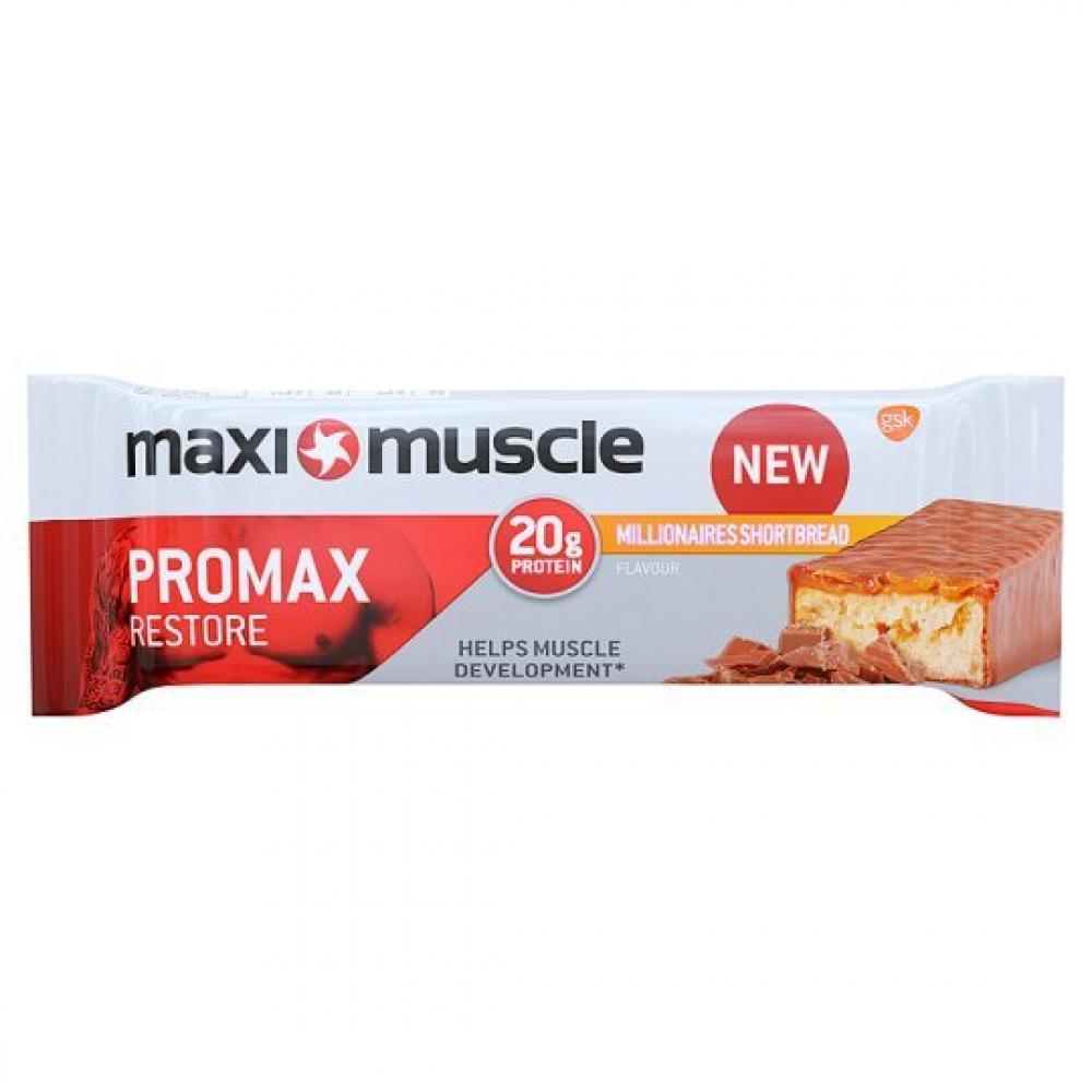 Maxi Muscle Promax High Protein Bar Millionaire Shortbread 60g
