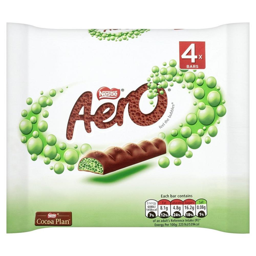 Aero Bubbly Bar Peppermint 27g x 4