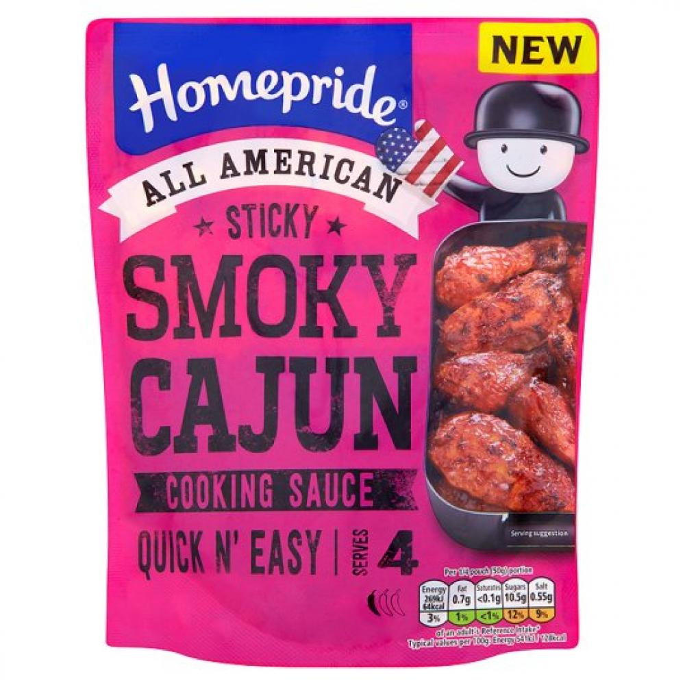 CLEARANCE  Homepride All American Sticky Smoky Cajun Cooking Sauce 200g