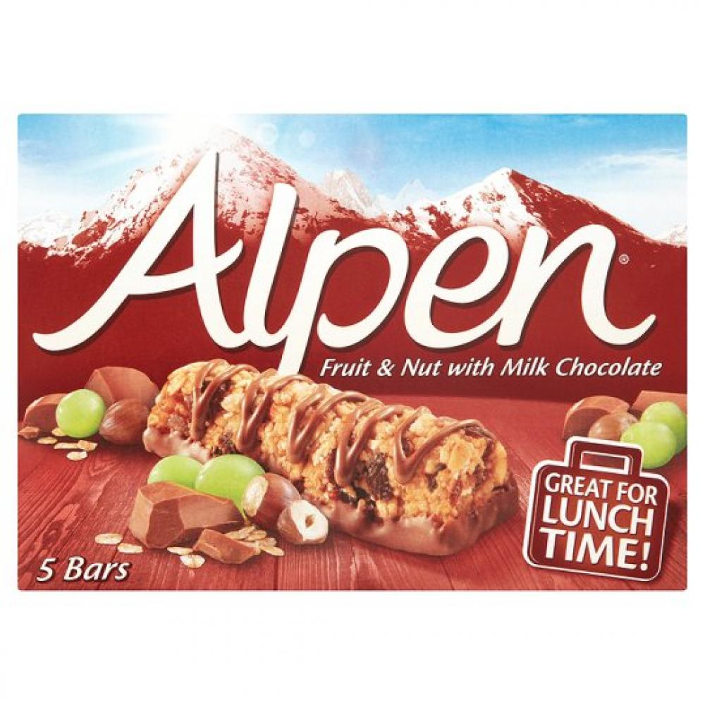 Alpen Fruit and Nut With Milk Chocolate 29g x 5