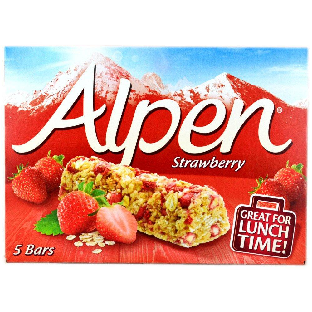 Alpen Mixed Cereal Bar with Apple and Strawberry 25g x 5