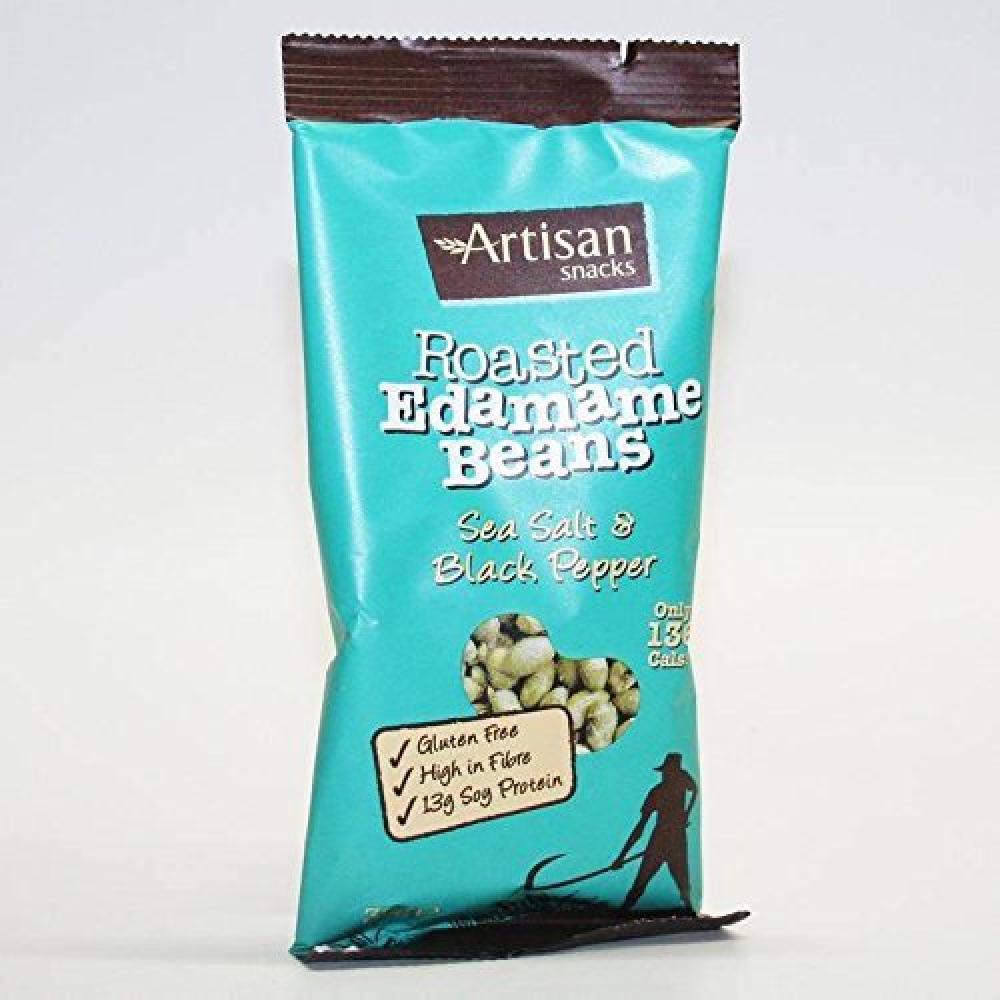 Artisan Snacks Salt and Black Pepper Edamame Beans 32 g