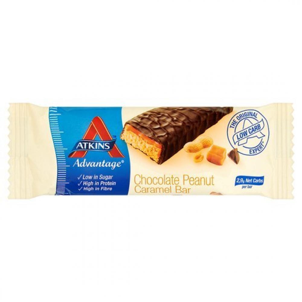 Atkins Chocolate Peanut Caramel Bar 60g