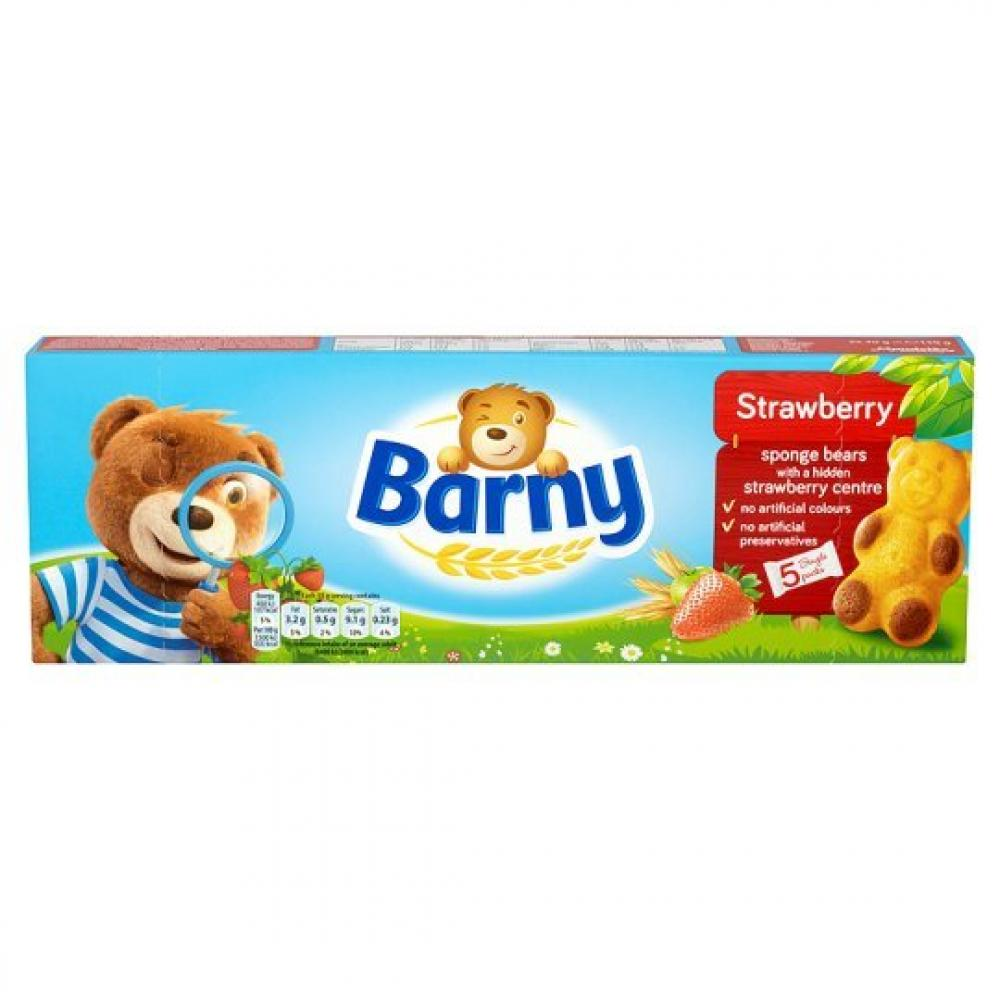 Barny Strawberry Filled Sponge Bears 30g x 5