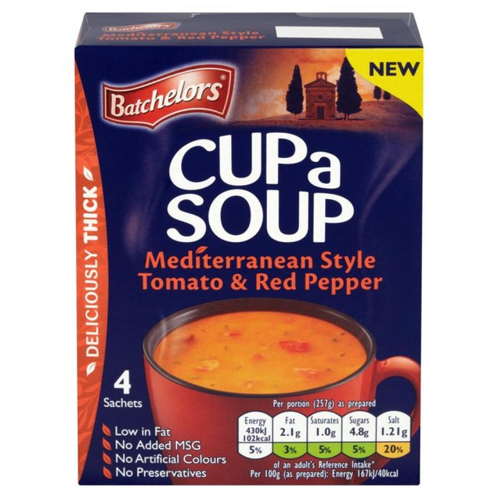 Batchelors Cup A Soup Mediterranean Style Tomato and Red Pepper 108g